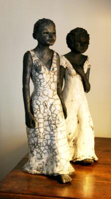 Sculptures, raku
